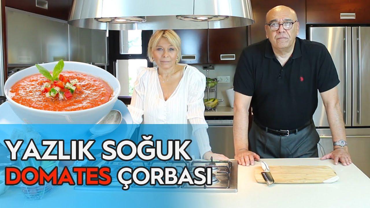 YAZLIK SOĞUK DOMATES ÇORBASI - (GAZPACHO TARİFİ!) / Doktor Mutfakta