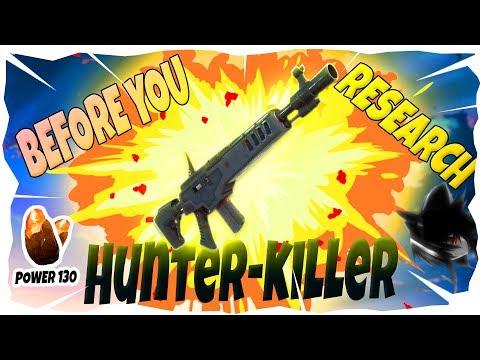 BEFORE YOU RESEARCH! I Hunter-killer I Fortnite Save The World