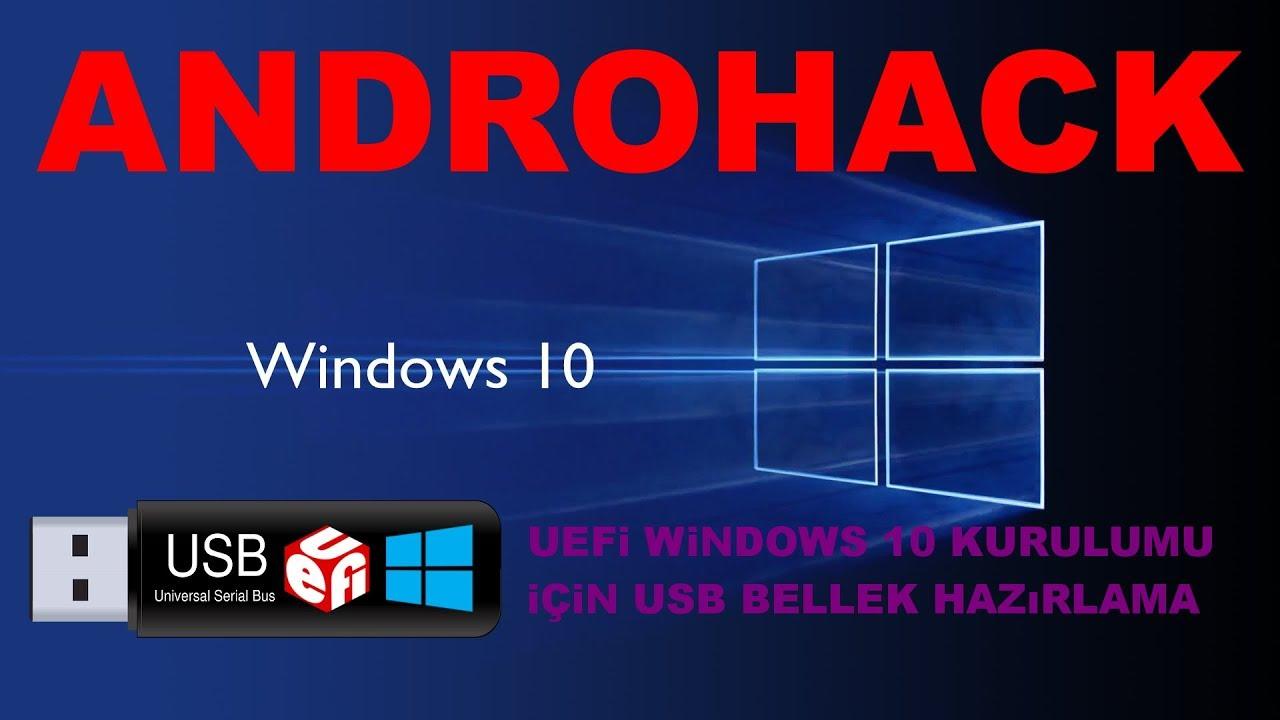 rufus uefi windows 10 hazırlama