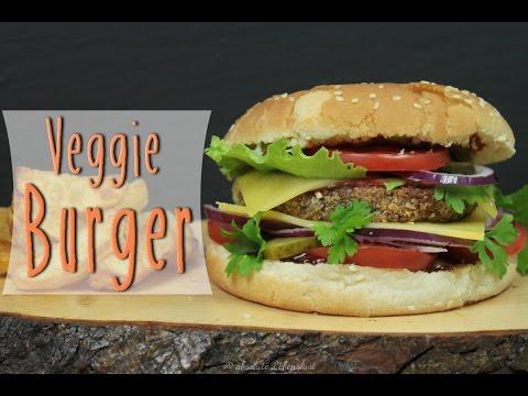 VEGGIE BURGER mit Buchweizen Patties   vegetarische Burger selber machen [Rezept]
