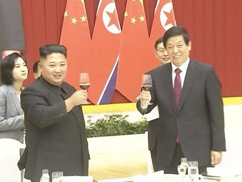 DPRK Top Leader Meets China's Top Legislator Again, Hosts Welcome Activities