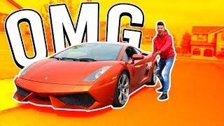 PICKING UP MY BROTHER IN A LAMBORGHINI