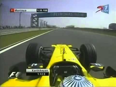 Jordan last qualifying in F1   Superb Lap by Karthikeyan 360p