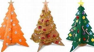 Новогодние поделки!Два способа сделать елочку своими руками.Как сделать елку Поделки своими руками!