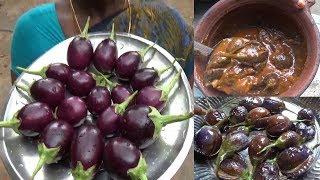 எண்ணெய்   கத்திரிக்காய் புளிக்குழம்பு செய்முறை / Ennai Kathirikai Kulambu /Brinjal gravy tamil
