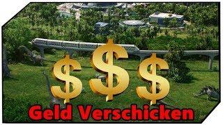 Jurassic World Evolution Geld auf eine andere Insel schicken Geld Verschicken Tutorial Guide Deutsch