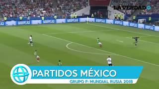 Calendario de los partidos de México en el Mundial de Rusia 2018.