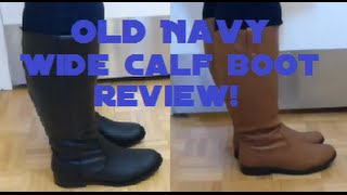 A Review of Old Navy Wide Calf Boots - Fall 2014 Thumbnail