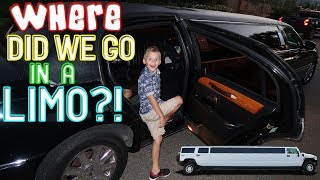 KIDS REACT TO RIDING IN A LIMO!!  || Mommy Monday