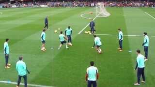 FC Barcelona amazing training 2014 tiki-taka rondo show