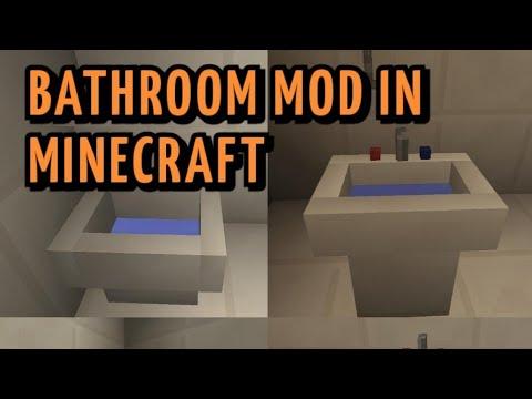 MODERN BATHROOM MOD IN MINECRAFT!!!🔥🔥 - YouTube