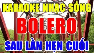 Karaoke Liên Khúc Nhạc Sống Bolero Trữ Tình Dể Hát Nhất | karaoke Lk Rumba Nhạc Vàng | Trọng Hiếu