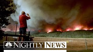 California 'Valley' Fire Send Thousands On the Run | NBC Nightly News