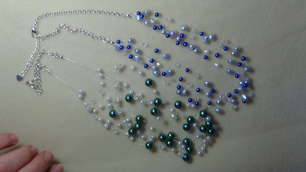 Tutorial Invisible Pearl Necklace Video 25 Youtube