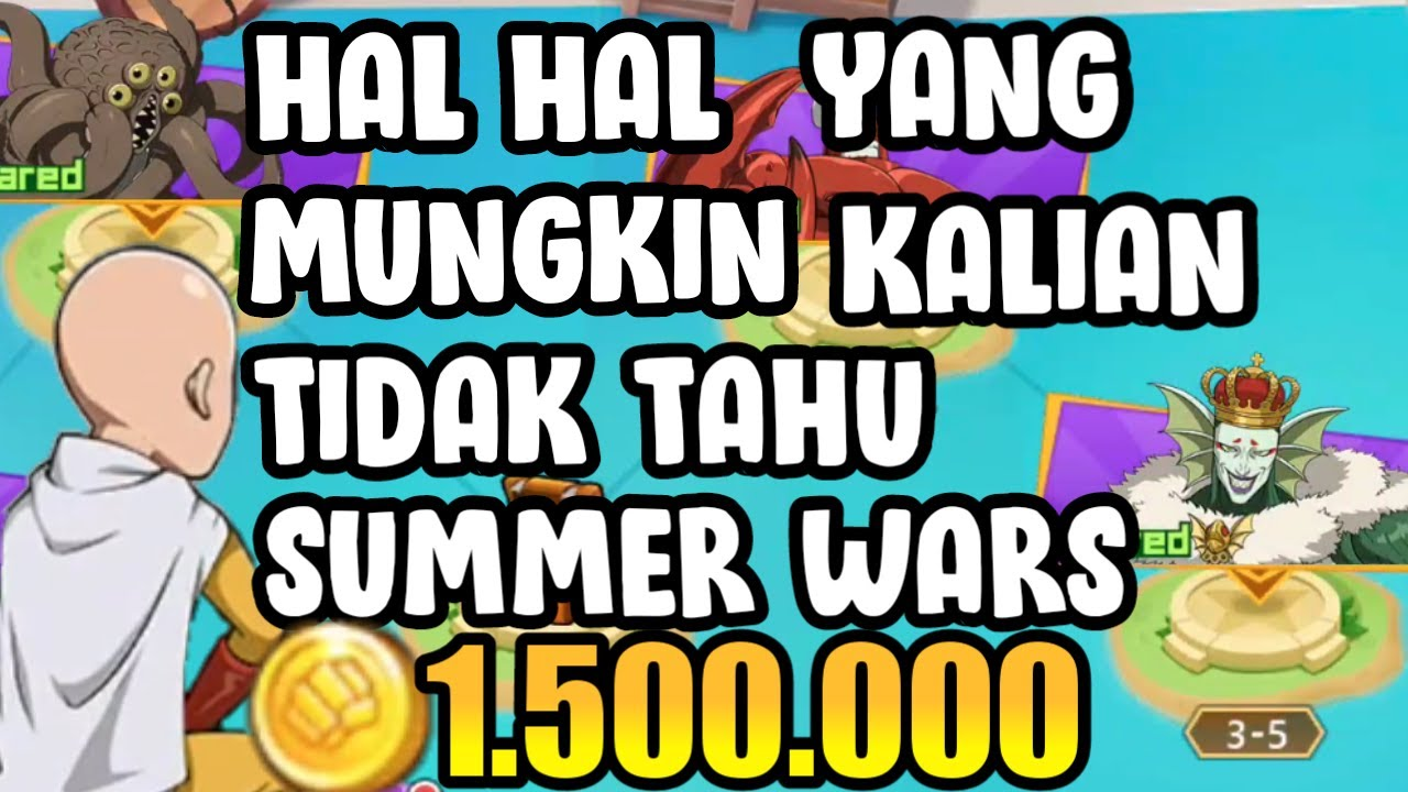 COIN AUTO KAYA Di Event Summer Wars - One Punch Man The Strongest