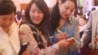 4ч. Браслеты+автограф от Фатимы Хадуевой в Монголии, благотворительный семинар(2013г.)