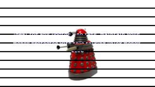 Talking Red Dalek Bank