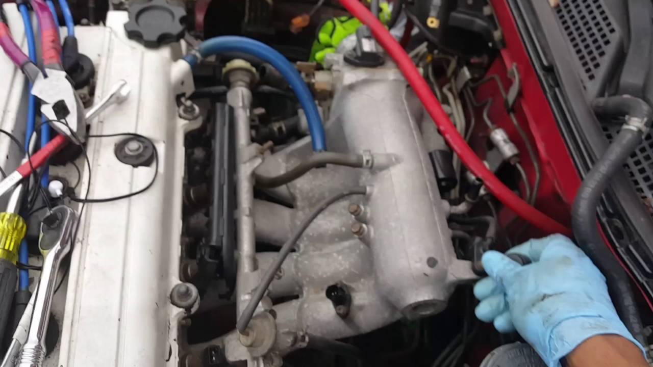 Acura integra teardown pt2 intake removal, header removal