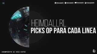 Picks Op SoloQ - Campeones OP para cada Línea   Parche 9.18