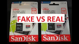 FAKE VS REAL (SanDisk Ultra 25…