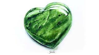 Jade Watercolor Gem Stone Painting Tutorial 玉