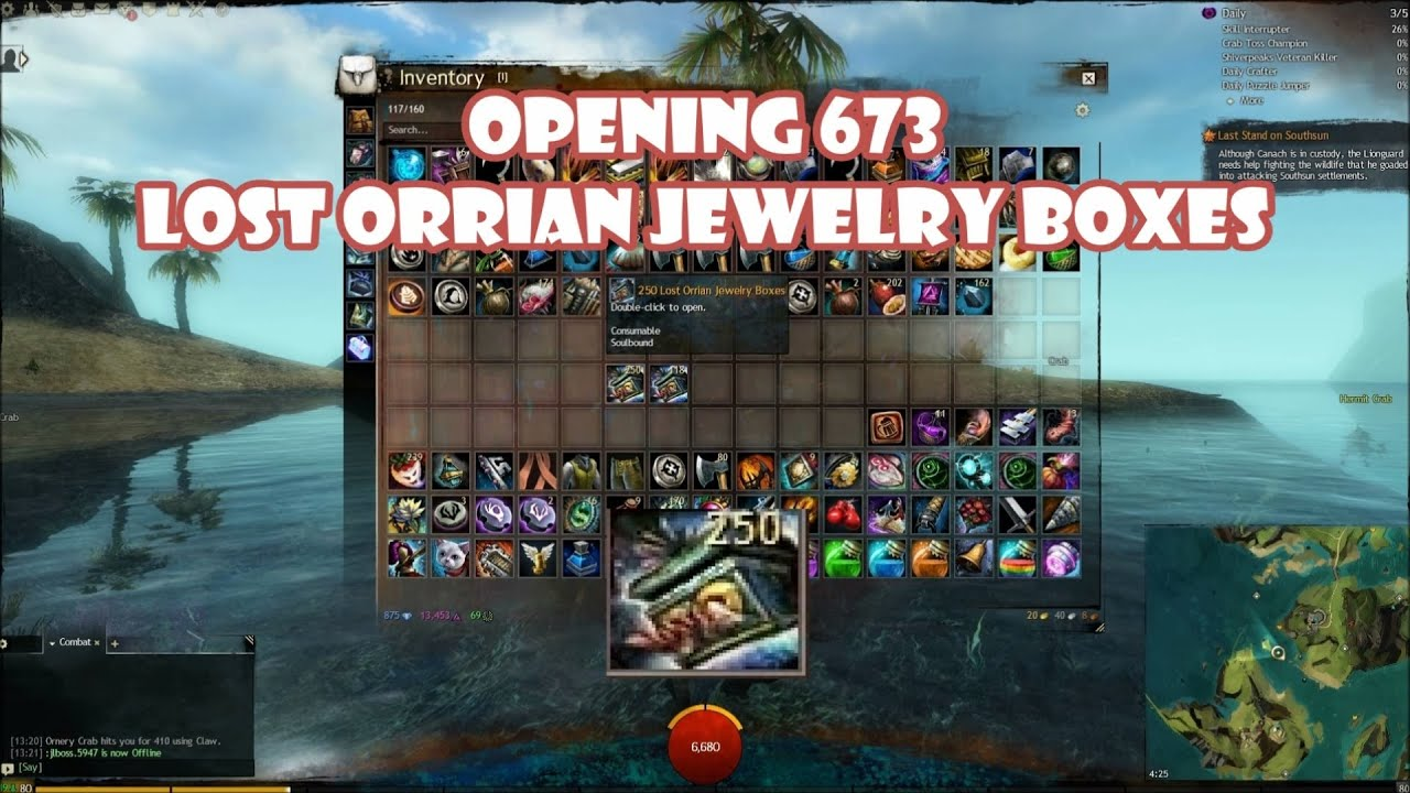 lost orrian jewelry box guild wars 2 opening 672 lost orrian jewelry boxes 4071