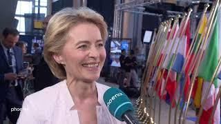 Neue Kommissionspräsidentin: Ursula von der Leyen äußert sich zu politischen Vorhaben