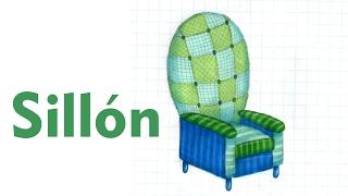 Como dibujar y colorear UN MUEBLE Sillón Muebles Casa Tutorial ILUSTRA SHOW