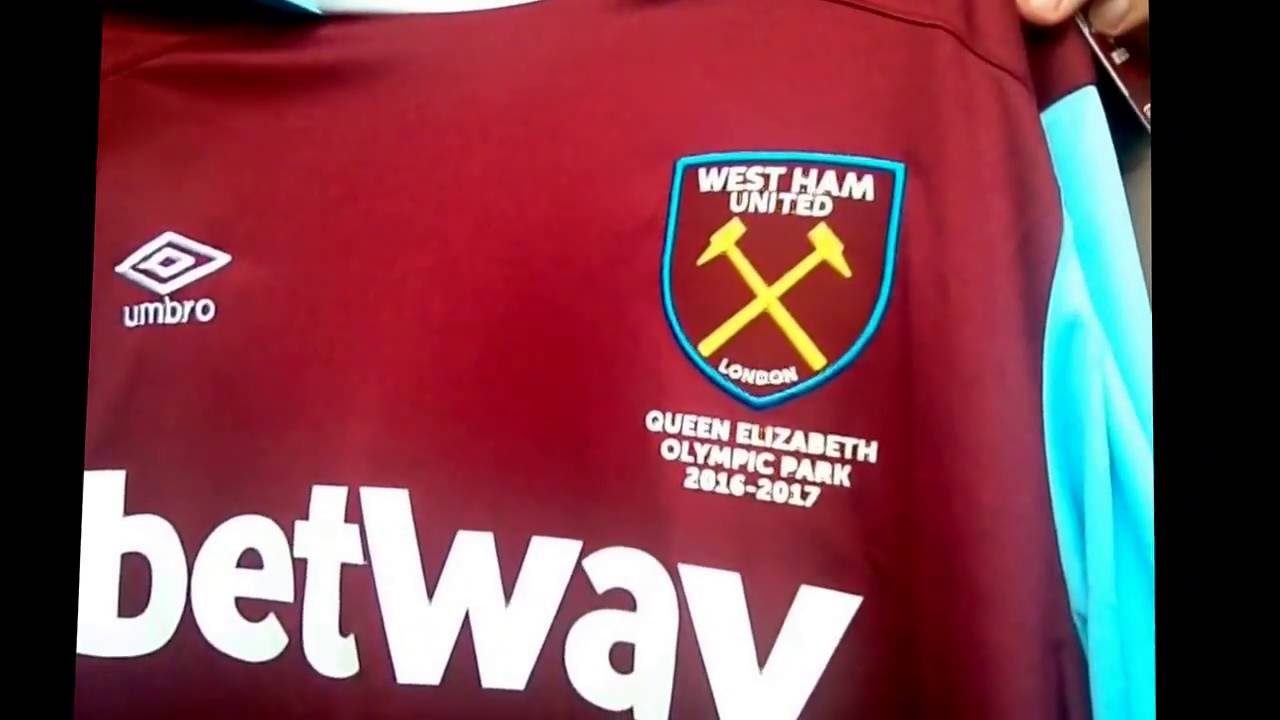 detailed look 21aec 938da West Ham United 16/17 Home Jersey Unboxing