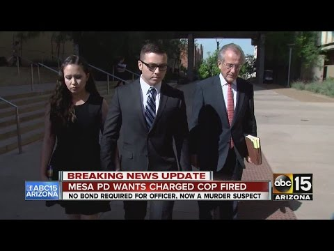 Mesa police want charged officer fired