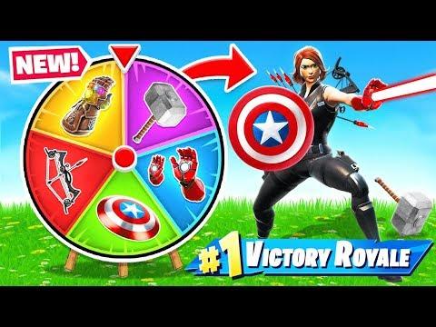AVENGERS ENDGAME Spin The WHEEL *NEW* Game Mode in Fortnite Battle Royale