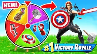 AVENGERS ENDGAME Spin The WHEEL *NEW* Game Mode in Fortnite Battle Royale
