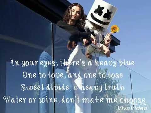 Selena Gomez-Wolves Ft. Marshmello (lyrics)