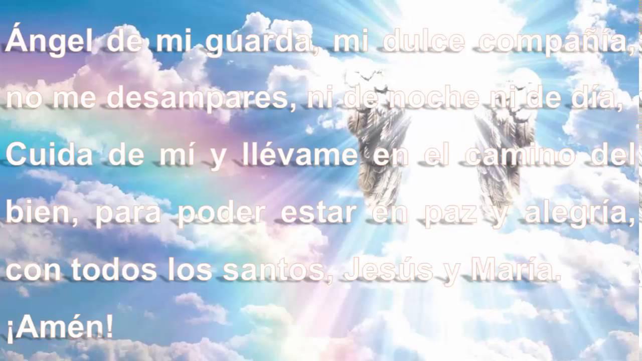 ángel De La Guarda Oración Audio Y Letra Muy Linda Youtube