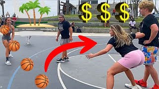 CHALLENGING STRANGERS at VENICE BEACH for MONEY!!