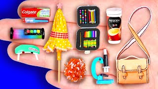 24+ DIY MINIATURE FOODS AND CRAFTS FOR DOLLHOUSE BARBIE