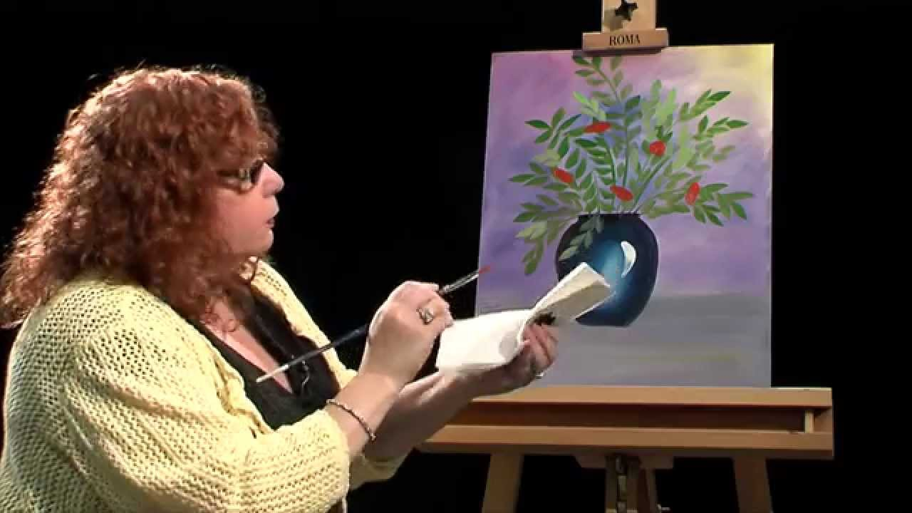Lucy S Big Beautiful World Of Painting Vase And Flowers