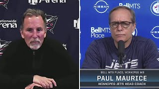 Coaches Tortorella and Maurice Talk About Dubois-Laine Trade
