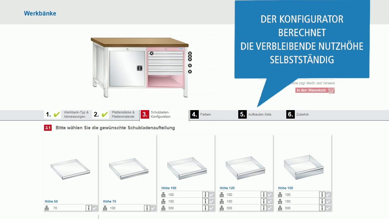 Hervorragend Werkbank Konfigurator - YouTube AN15