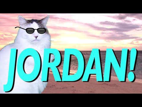 HAPPY BIRTHDAY JORDAN! - EPIC CAT Happy Birthday Song
