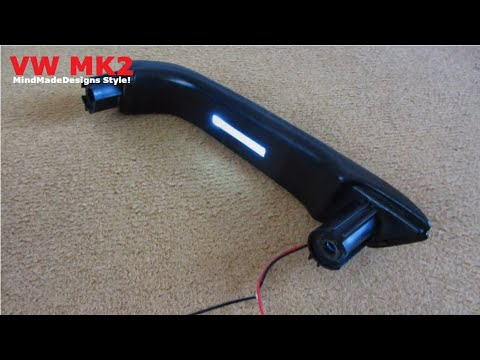 Car Door Panel Make Handle Plexiglass Led Light Diy Youtube
