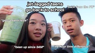 jet lagged teens go back to school...   Nicole Laeno