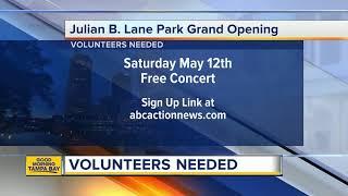 Volunteers needed for Julian B Lane Park opening