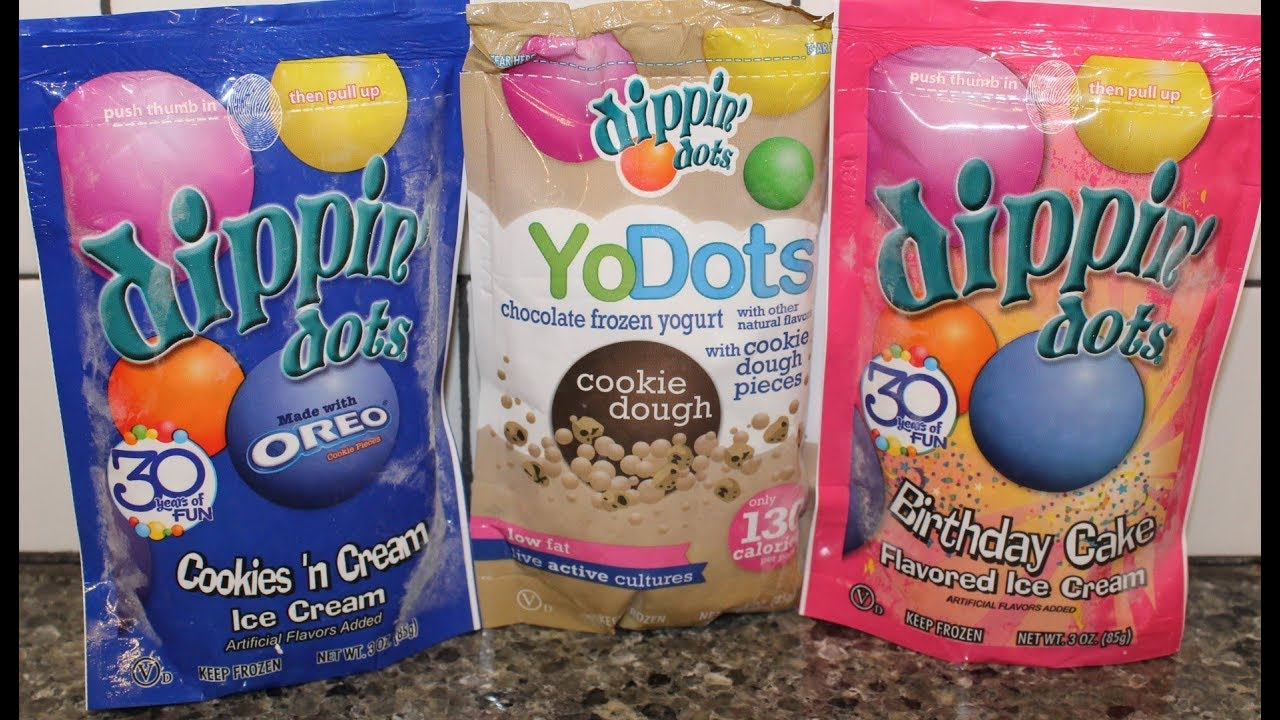 Dippin Dots Ice Cream Oreo Cookies Cream Chocolate Chip Cookie