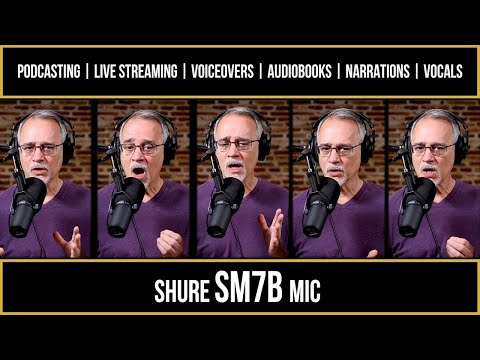 Podcasting, Live Streaming, Voiceovers, DONE! - Shure SM7B Microphone