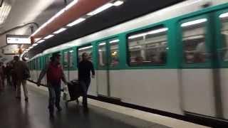 【フランス】 パリメトロ2号線 ピガール駅 Paris Métro Line 2 Pigalle Station (2014.4)