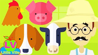 Old MacDonald Had a Farm I Nursery Rhymes by Little Ville I The Best Songs For Preschool I Kids Song