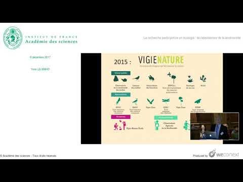 """""""La recherche participative en écologie : les laboratoires de la biodiversité"""", par Yvon Le Maho."""