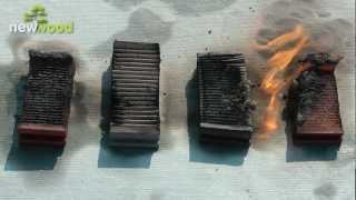 Террасная доска NewWood - Тест на огнестойкость.mpg(Производство и продажа террасной доски нового поколения