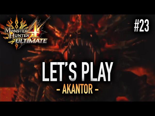 LE DIEU NOIR, L'AKANTOR - #23 Let's Play MH4U HD